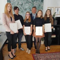 Župan Mestne občine Murska Sobota sprejel zlate maturante