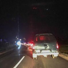 Prometna nesreča v Nemčavcih, nastaja zastoj