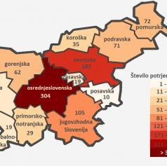 Pomurska regija z 72 okuženimi prehitela celo podravsko regijo