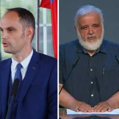 Slovenski minister pozitiven na koronavirus, direktor NIJZ na črpalki brez maske